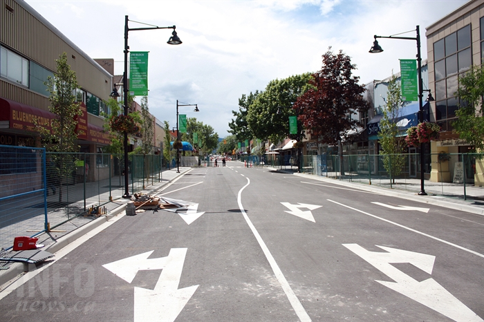 The revitalized 200 block of Main Street, on June 10, days prior to the street's official reopening.