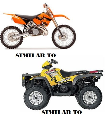 An ATV and dirt bike similar to those pictured were stolen from a garage in West Kelowna June 15, 2016.
