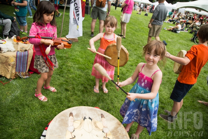 There were activities for all ages at Riverside Park for the annual Canada Day celebration.