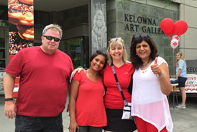 City councilor Mohini Singh was just one of the local civic leaders who attended Kelowna's Canada Day festivities.