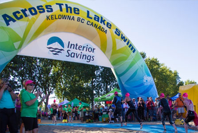 The annual Across the Lake Swim is just one of the fun things happening around Kelowna this weekend.