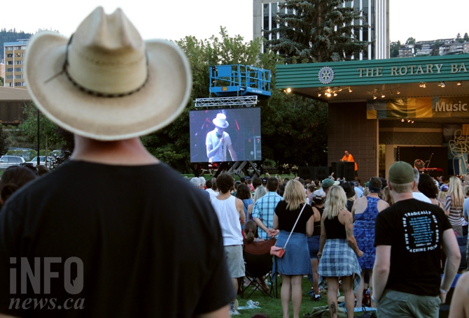 Fans of the Tragically Hip filled Riverside Park for a live stream of what may be the iconic band's final show.