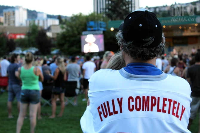CBC's broadcast of the Tragically Hip's final concert was shown at Riverside Park in Kamloops.