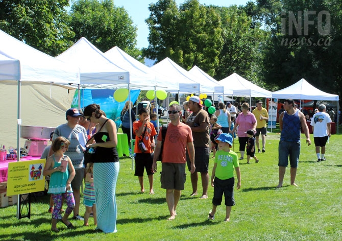 Local businesses set up tents at Overlanders Day to show attendees what they do on the North Shore.