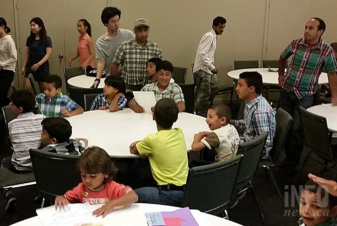 On Thursday, Aug. 25, 2016 a group of adults and, kids and teenagers met at Evangel Church on Gordon Avenue for a graduation ceremony and pot luck. They came from countries like Syria, Thailand, China, Japan and Germany.