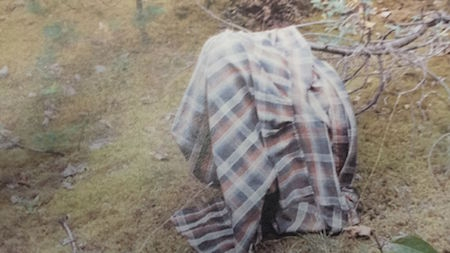 Pictured is the long-sleeved, plaid shirt the unidentified man was wearing.