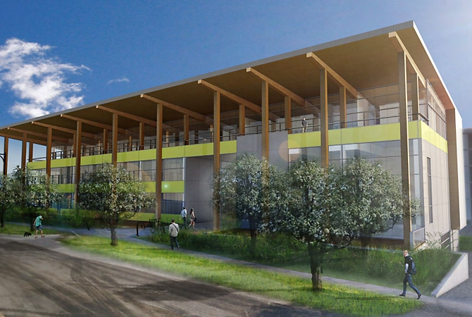 A rendering of what the new West Kelowna Civic Hall might look like.