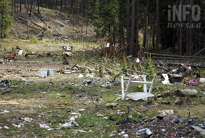 An area on the way to Postill Lake Resort had become a dumping ground of old electronics, furniture and more before the Okanagan Forest Task Force cleaned it up.