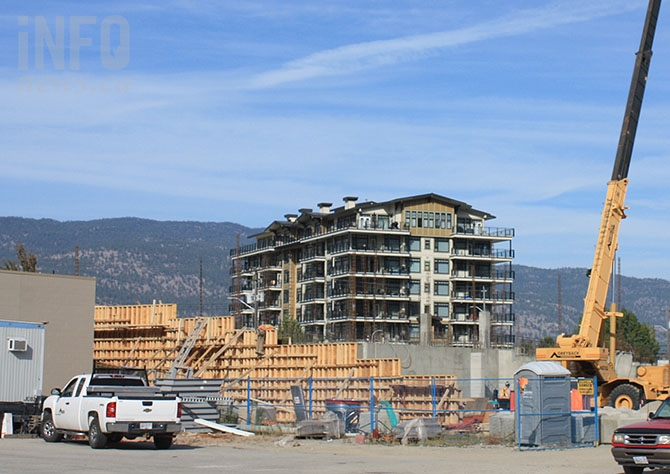 Starline Enterprises' Skaha Lake Road development is underway with a phase one 12 storey condominium block.