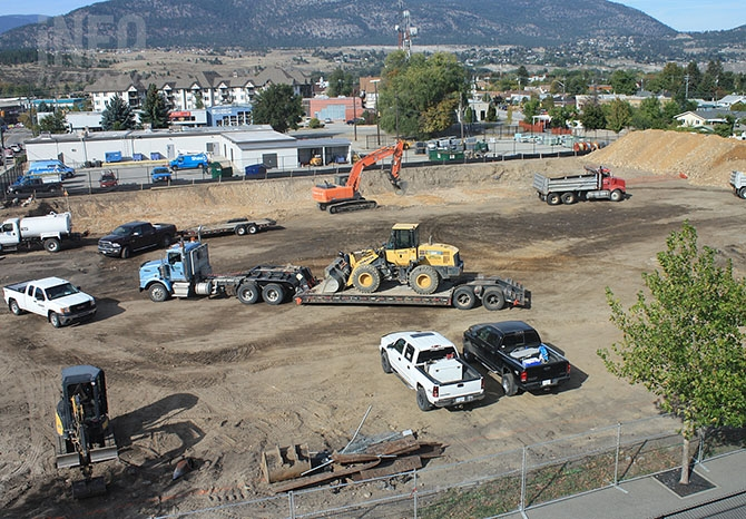 Two five storey apartment towers are now under construction at 151 Duncan Ave. in Penticton.