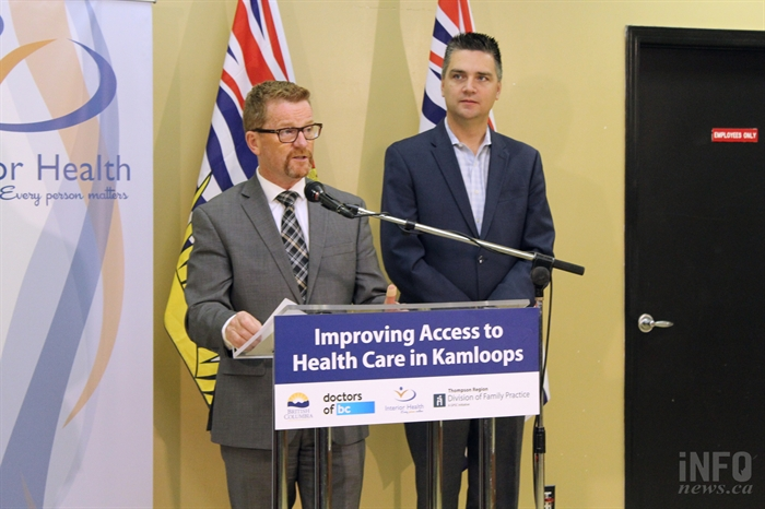 MLAs Terry Lake(left) and Todd Stone(right) announced new measures this year to accommodate patients in need of family doctors in Kamloops.