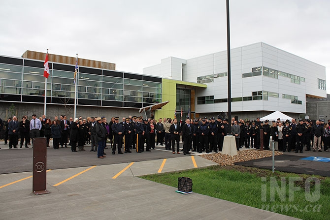 Dozens of new corrections officers were on hand to witness the official opening ceremony for the new Okanagan Correctional Centre in Oliver today, Oct. 21, 2016.