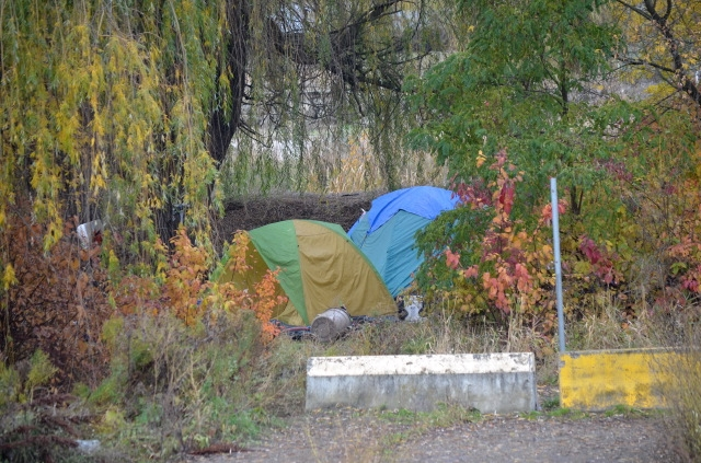 FILE PHOTO: This homeless camp in Vernon, pictured on Oct. 24, 2016, has since been decommissioned.
