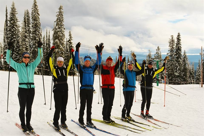 A number of jubilant cross country skiers were out to enjoy the mountain today, Nov. 21, for Silver Star's first day of nordic skiing.