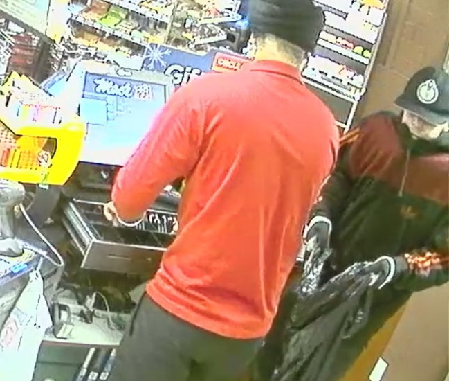 Kelowna RCMP are looking for the identity of the man on the right after a late night robbery at a Mac's convenience store on just after midnight Dec. 12, 2016.