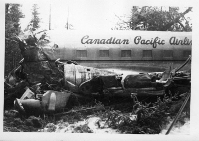 Canadian Pacific Airlines flight 4 from Vancouver to Penticton and on to Castlegar, never made it to the Peach City after crashing on the afteroon of Dec.22, 1950. All the passengers survived, but it took two days for them to get off the mountain.