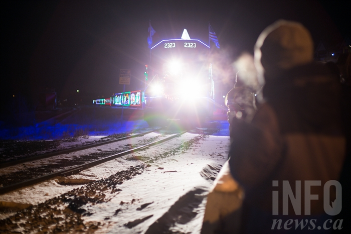 Hundreds of people in Kamloops braved the -12 C weather to catch a glimpse of the CP Holiday Train.