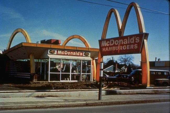 FILE PHOTO — Exterior of the first Canadian McDonald's restaurant in Richmond, B.C. is shown in this handout image. The first McDonald's in Canada opened its doors nearly 50 years ago. Now, there are more than 1,400 of its restaurants in all 10 provinces and two territories (Nunavut being the exception).