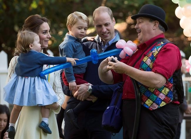 The Duke and Duchess of Cambridge attend a children's party with Prince George and Princess Charlotte at Government House in Victoria, B.C. Thursday, Sept 29, 2016.