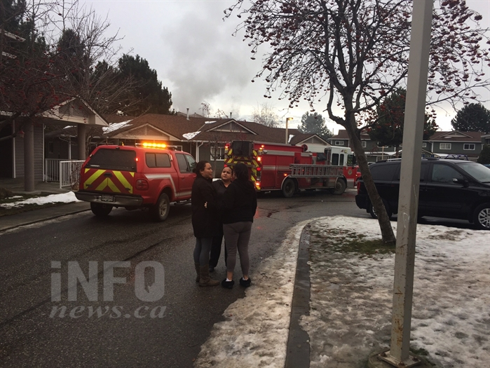 West Kelowna Fire Rescue crews are fighting a fire at an apartment complex on Ingram Road this afternoon, Jan. 20, 2017.