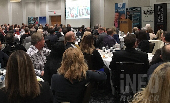 Hundreds of people attended Mayor Colin Basran's annual 'state of the city address' at the Coast Capri Hotel in Kelowna.
