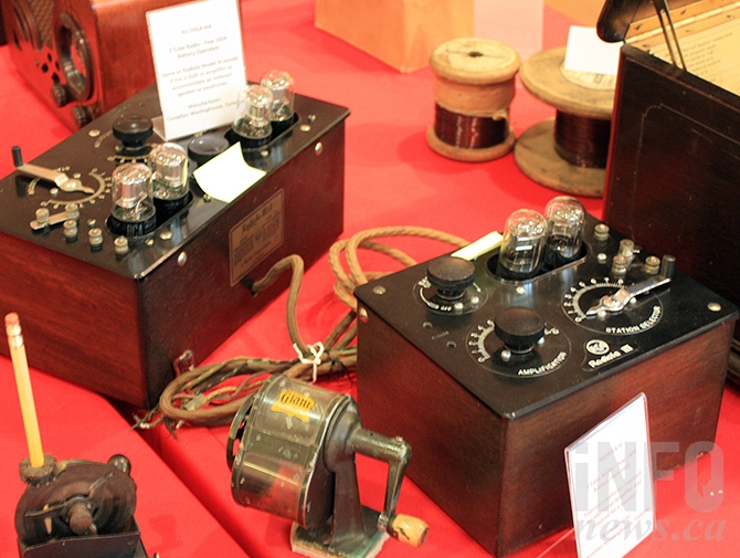 The historical society has teamed up with a number of non-profit Penticton groups to host a display of historic artifacts, such as these old tube radios,  and stories in Cherry Lane Mall as part of Heritage Week, Feb. 13 to 19, 2017.
