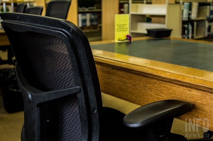 More often than not, Ken Tessovitch could be seen working from this chair inside the Kamloops Law Courts library.