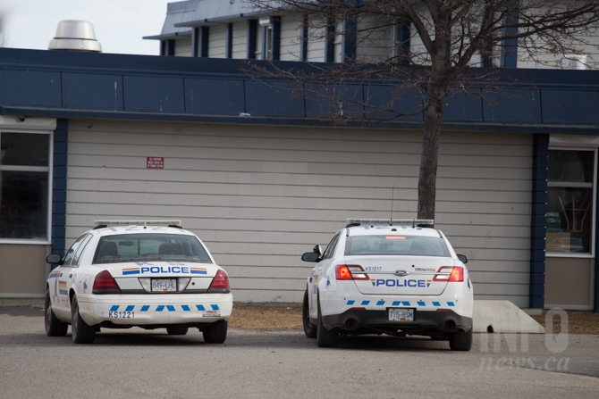 Several police cruisers were stationed in front of Brocklehurst Middle School after an incident involving a group of youth and a BB gun March 2, 2017.