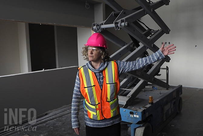 City of Kelowna client services supervisor Anita Rideout in the main foyer of Kelowna's new Police Services Building, Friday, March 3, 2017.