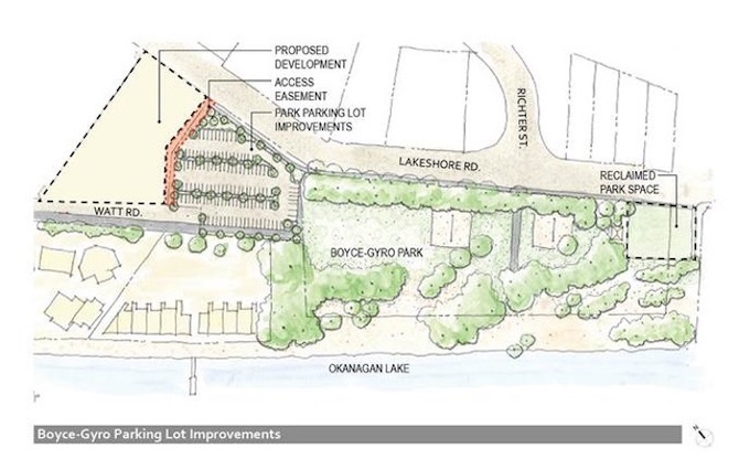 132 new parking stalls are planned to go next to Boyce-Gyro Park in Kelowna.