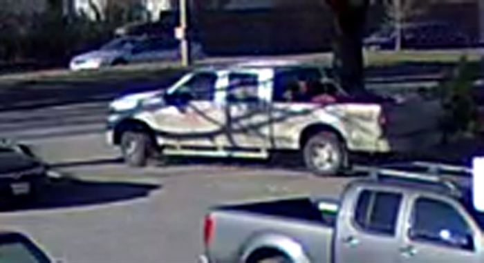 Kamloops RCMP have released this image of the suspect's vehicle, a newer model white Ford F-350.
