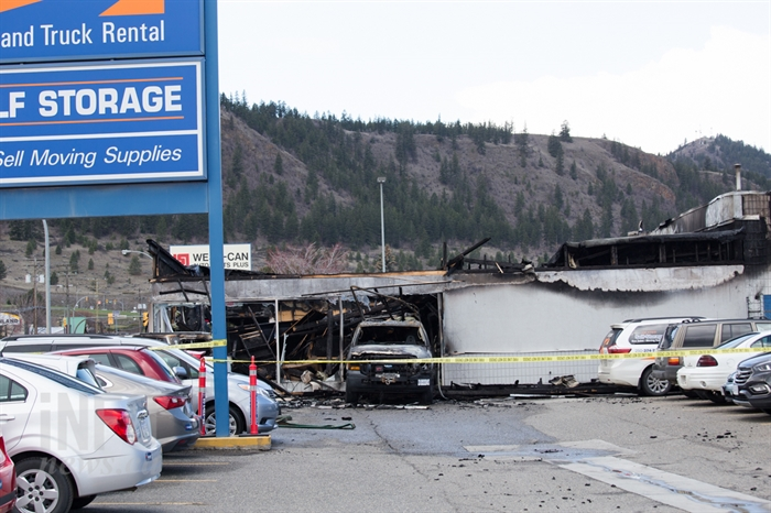 The fire caused a total loss and a new Budget Car Rental shop will be rebuilt at the same Notre Dame Drive location.