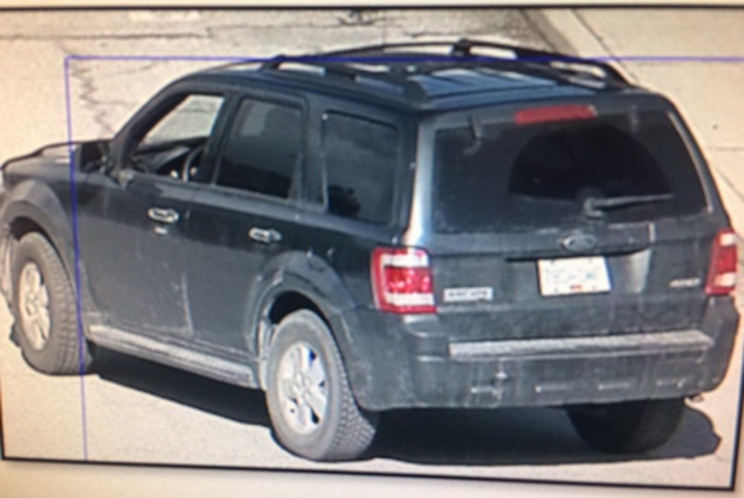 Police are also on the lookout for the suspect's vehicle a 2009 Ford Escape.