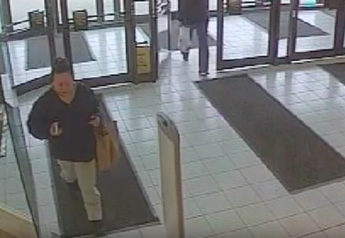 Caitlin Potts is seen here entering Orchard Park Mall on Feb. 21, 2016.