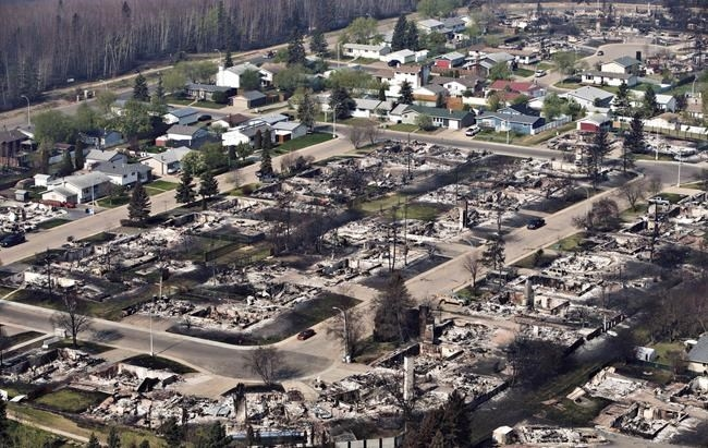 A devastated neighbourhood in Fort McMurray, Alta., on Friday, May 13, 2016.