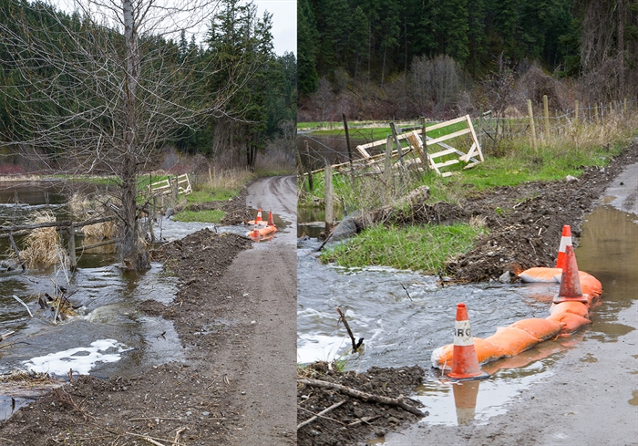 These two photos were taken on Campbell Creek Road in Barnhartvale.