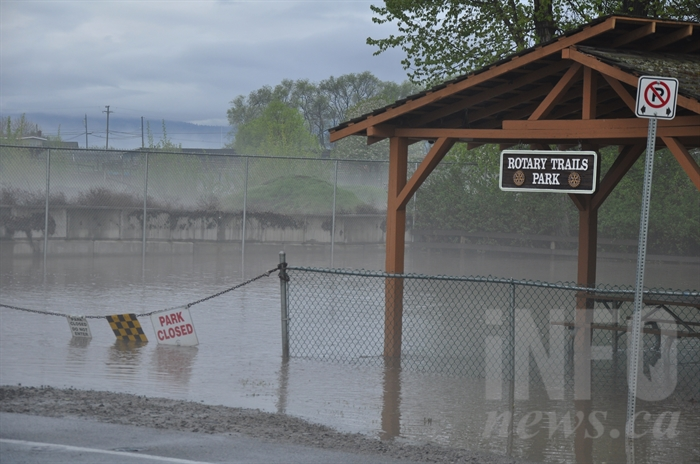 Rotary Trails Park is often closed in spring due to flooding, but rarely is it entirely under water.