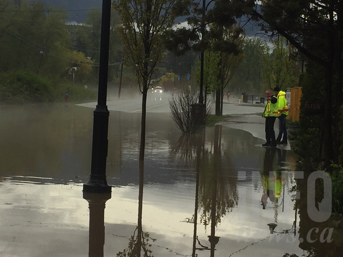City of West Kelowna advises residents to avoid the area as they keep an eye on the forecast.