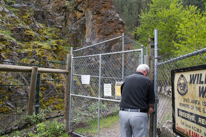 The Dipper Falls nature trail will be closed to the public until crews can repair damage.