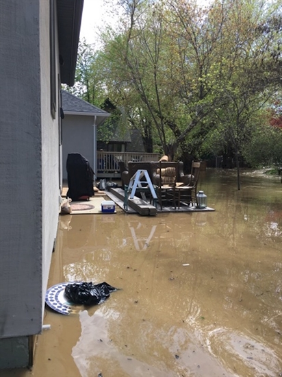 Marshall Street resident Bill Feist's backyard on Mill Creek.
