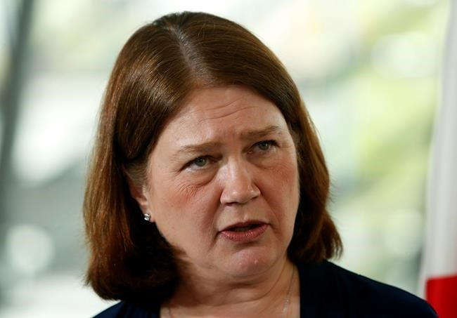 Health Minister Jane Philpott dicusses the high cost of pharmaceuticals during a speech to the Economic Club of Canada in Ottawa, Tuesday, May 16, 2017.