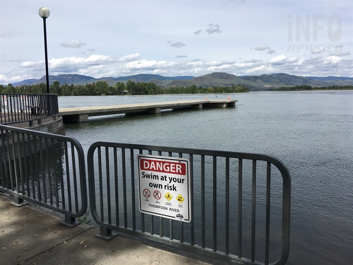 Water levels in the South Thompson River have caused city officials to close the Riverside Park pier today, May 31.