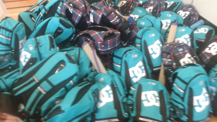 These donated backpacks were filled with with personal hygiene items, sexual health items and some personal comforts.