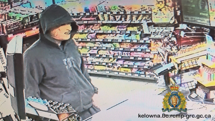 The suspect in today's, June 11, robbery at a Kelowna Mac's.