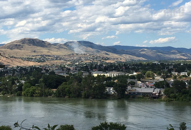 Smoke from the fire in Batchelor Heights can be seen from many areas of Kamloops.
