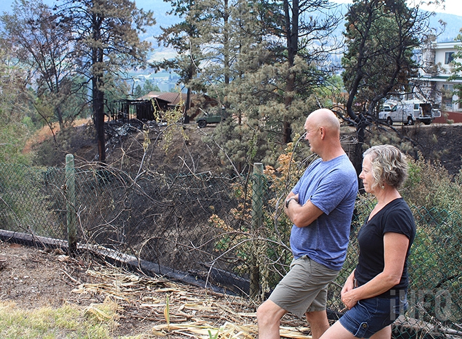 A neighbour to the east of Richardson's property also lost an outbuilding as the fire raged through a gulley next to their property, stopping after hitting the fence line.