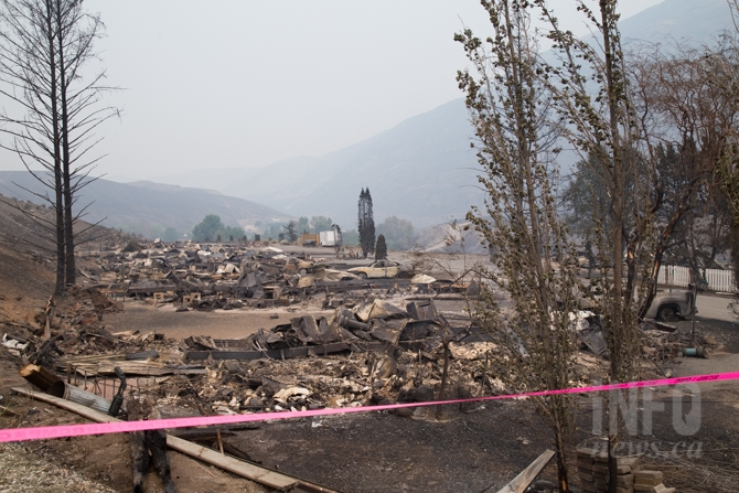 The Boston Flats trailer park was reduced to rubble after the Ashcroft Reserve fire.