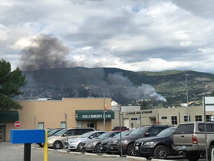 A fire in Penticton's West Bench area, Thursday, July 20, 2017.