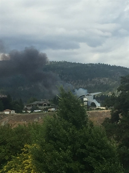 A fire in the Westbench area of Penticton, Thursday, July 20, 2017.