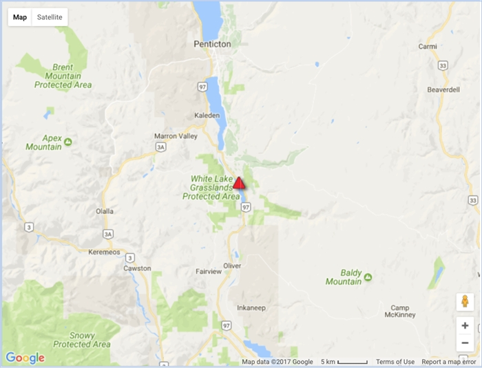 Highway 97 south of Okanagan Falls is closed due to a collision, Friday, July 21, 2017.